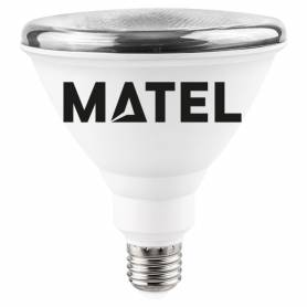Bombilla Led PAR 38 IP65 E27 15w. FRIA Marca Matel