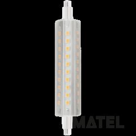 Bombilla led Lineal 360º  24x118mm.10w NEUTRA Marca Matel