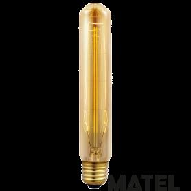Bombilla Edison Vintage TUBULAR T185 E27 40w Marca Matel