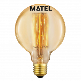 Bombilla Edison Vintage GLOBO G95 E27 40w Marca Matel