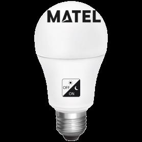 Bombilla Led estándar  SENS.CREPUSC.E27 10w.F Marca Matel