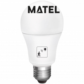 Bombilla Led estándar  SENS.PRESEN.E27 10w.N Marca Matel