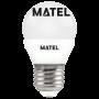 Bombilla Led esférica  REGULABLE E27 7w.FRIA Marca Matel