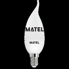 Bombilla Led Vela Flama 3 INTENSID.E14 5w.FR Marca Matel