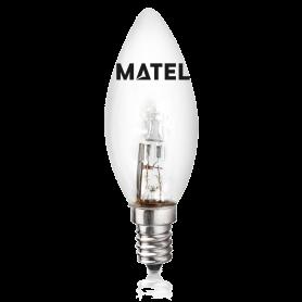Bombilla Halogena Eco Vela CLARA E-14 42w. Marca Matel