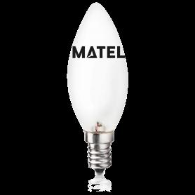 Bombilla Halogena Eco Vela MATE E-14 28w. Marca Matel