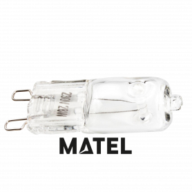 Bombilla Halogena Eco modelo G9 HI-PIN 28w.230v. Marca Matel