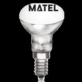 Bombilla Incandescente Reflectora R50 E-14 60w. Marca Matel