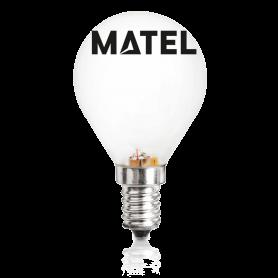 Bombilla Halogena Eco esférica MATE E-14 42w. Marca Matel
