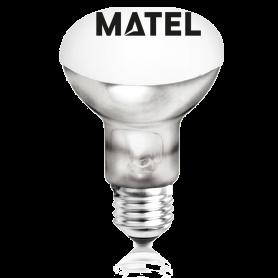 Bombilla incandescente Reflectora R80 E-27 100w. Marca Matel