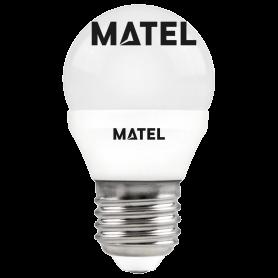 Bombilla led esférica  E27 4w.NEUTRA Marca Matel