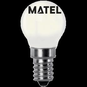 Bombilla Led con Filamento esférica OPAL E14 2w.CALIDA Marca Matel