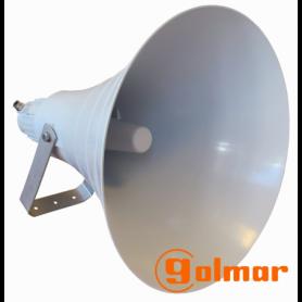 Bocina exponencial circular de aluminio y poliamida 100 vatios DST-100/50 Golmar