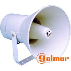 Bocina exponencial circular de plástico 30 vatios PH-30T Golmar