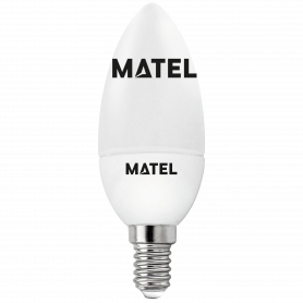 Bombilla led Vela E14 3w FRIA Marca Matel