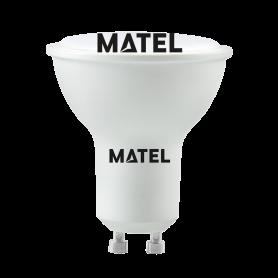 Bombilla led Dicroica 120º GU10  6w cálida  Marca Matel