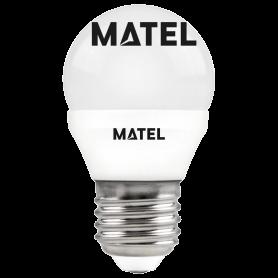 Bombilla led esférica  E27 7w.NEUTRA Marca Matel