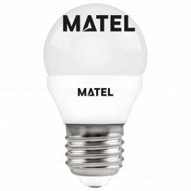 Bombilla led esférica  E27 6w.NEUTRA Marca Matel