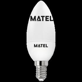 Bombilla led Vela  E14 6w.CALIDA Marca Matel