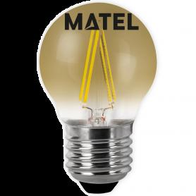 Bombilla led Filamento esférica Vintage E27 4w. Marca Matel