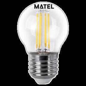 Bombilla led Filamento esférica CLARA E27 4w.CALIDA Marca Matel