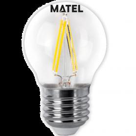 Bombilla led Filamento esférica CLARA E27 4w.FRIA Marca Matel