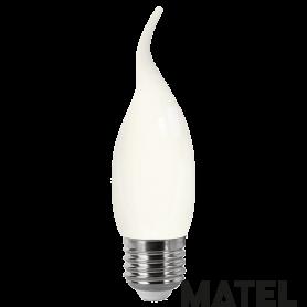 Bombilla led Filamento Vela .OPAL.E14 4w CALIDA Marca Matel