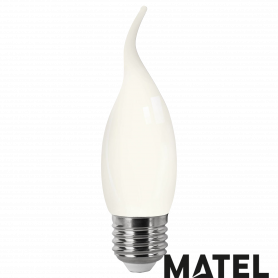Bombilla led Filamento Vela .OPAL.E27 4w CALIDA Marca Matel