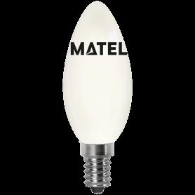 Bombilla led Filamento Vela OPAL E14 4w.CALIDA Marca Matel