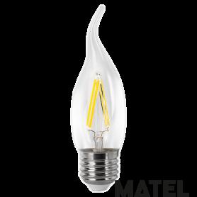 Bombilla led Filamento Vela .CLAR.E27 4w CALIDA Marca Matel