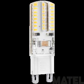 Bombilla led Silicona  G9 3w. 230v. CALIDA Marca Matel