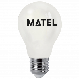 Bombilla led Filamento A60 E27   4w OPAL FRIA Marca Matel