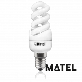 Bombilla Espiral MINI L/FRIA E-14 15w Marca Matel