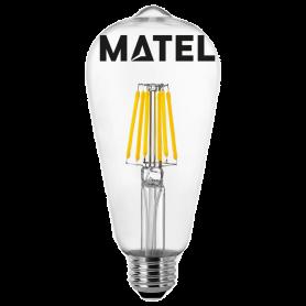 Bombilla led Filamento Pera E27 4w.CALIDA Marca Matel