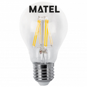 Bombilla Led Filamento estándar CLARA E27  8wFR Marca Matel