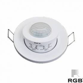 Sensor INFRARROJO REDONDO empotrar DISEÑO 360° IP20 marca RGB