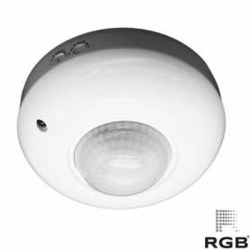 Sensor INFRARROJO REDONDO superficie 360° IP2 marca RGB