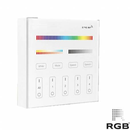 Control PARED SMART 4 zonas RGB+CCT 240V DIMMER 30m marca RGB