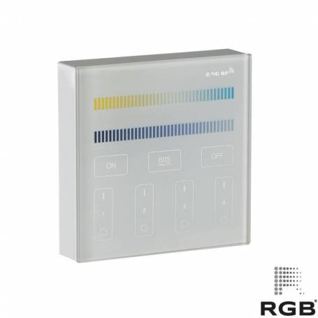 Control PARED SMART 4 zonas CCT 240V DIMMER 30m alcance marca RGB