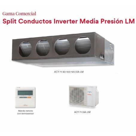 CONJUNTO SPLIT CONDUCTOS INVERTER MEDIA PRESION LM  ACY71UIA-LM  6800W