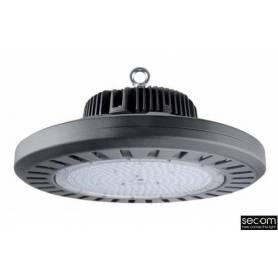 Campana Industrial Gris Modelo Konik Eco IP65 200w 4000K marca Secom Iluminación