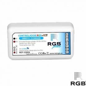 Controlador DMX512 RGB+CCT 12/24V 240W 30m alcance marca LedRGB