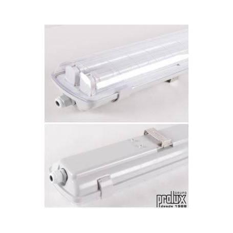 Pantalla Estanca policarbonato para  Tubo Led 2X600mm (Tubos no incluidos) marca Prolux