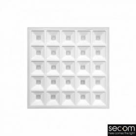 Panel Led Modelo CUBIC blanco 36w Amstrong 4000k marca Secom Iluminación