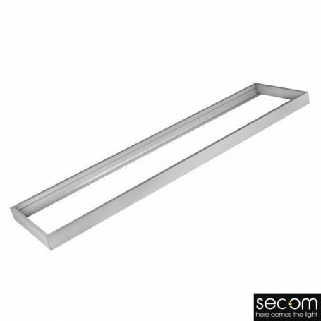 Marco superficie ESLIM, blanco 1200x300 mm. marca Secom Iluminación