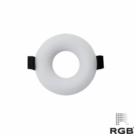 Aro diseño REDONDO corte 76mm BLANCO Y NEGRO marca LedRGB