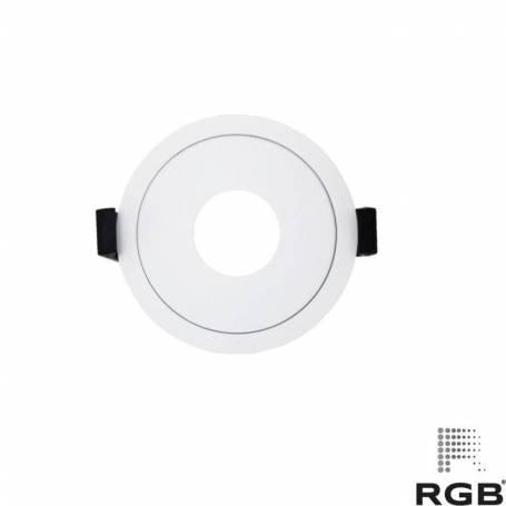 Aro diseño REDONDO corte 89mm BLANCO marca LedRGB