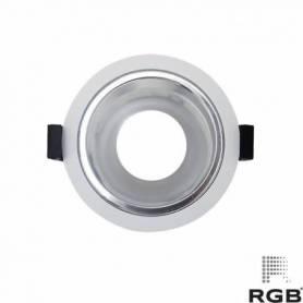Aro diseño REDONDO corte 89mm ESPEJO/BLANCO marca LedRGB