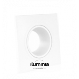 ARO DICROICA BUEMY CUADRADO x1 Empotrable Orientable marca Iluminia