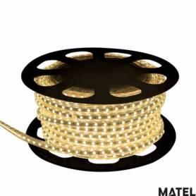 Tiras de Led 8 Watts Por Metro Luz Calida marca Matel